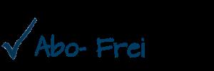 Hacken und Schrift mit :Abo frei